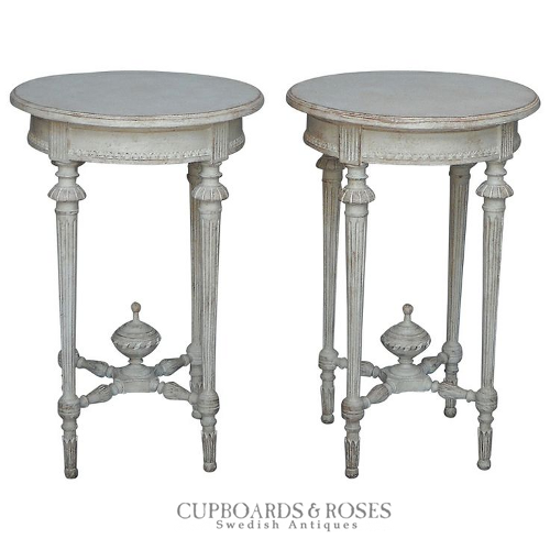 Pair of Gustavian Style Occasional Tables