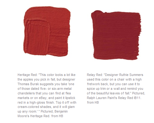 Favorite Red Paint Colors Seen In House Beautiful Magazine
