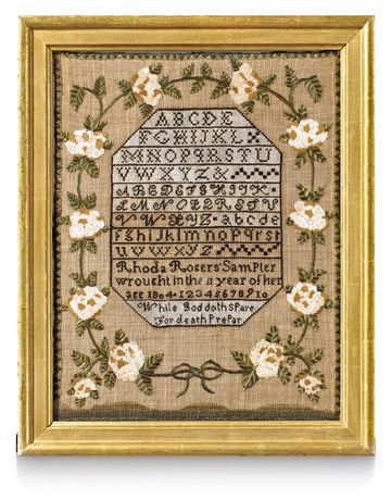 Sampler, 1804 Country Living Magazine