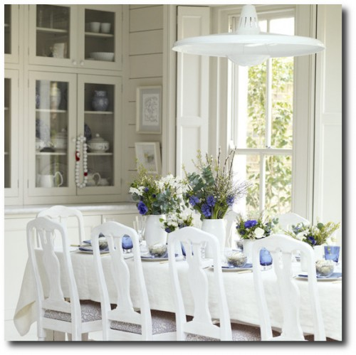 Seaside-style dining room - House to Home
