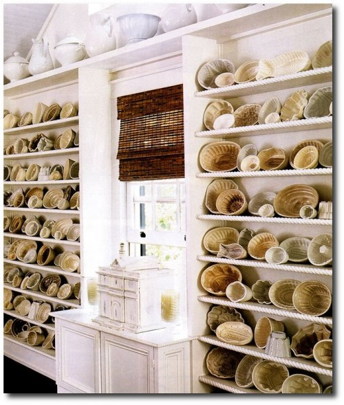 White Ironstone Molds Seen On Cote de Texas Blog