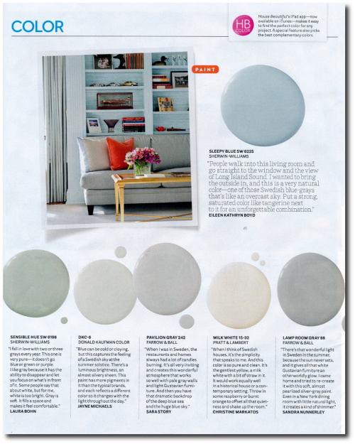 12 Interior Designers Pick Their Favorite Swedish Paint Colors House Beautiful's September 2014 issue- Photographer Michael Croteau 2