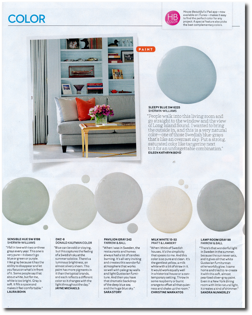 ... 12 Interior Designers Pick Their Favorite Swedish Paint Colors House  Beautifulu0027s September 2014 Issue  Photographer