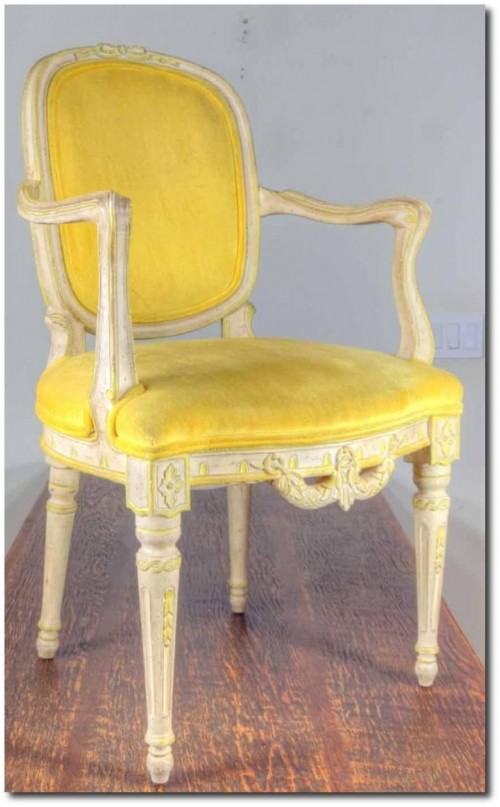 Louis XVI style carved upholstered chair.- 36 in. T X 23 in. Woglethorpeauctions On ebay