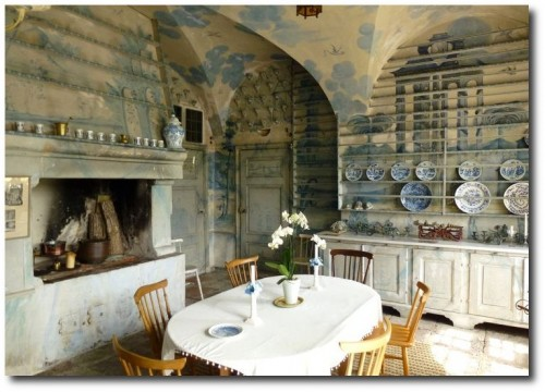 Porcelain Kitchen at Tureholms Slott.