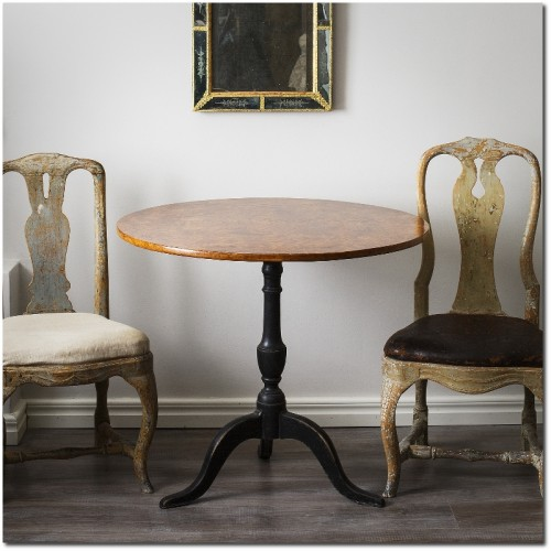 Swedish Late Gustavian Alder Root Table D Larsson Interior
