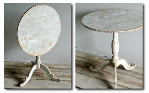 Swedish Occasional Tilt Top Table Seen at Puckhaber Decorative Antiques