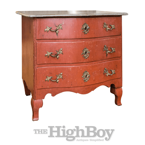 1760 Swedish Rococo Period Painted Commode thehighboy