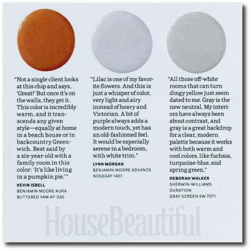 House Beautiful Paint Color Experts- 12 Swedish Gustavian Paint Colors - Designers Picks