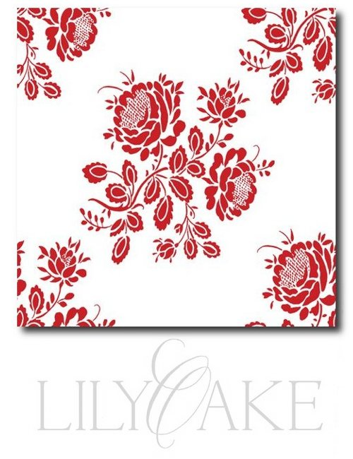 Kristianstad Rose in cranberry red - lilyoake