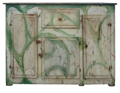 Swedish Handpainted Cabinet Sold through Umbrella