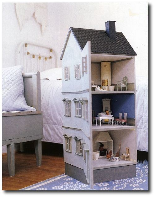 Swedish Painted Wood Doll House