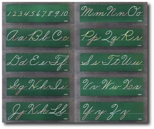 Decorate with old handwriting - Chalkboards, or framed calligraphy