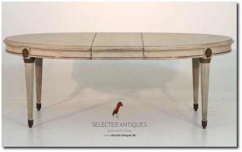 Gustavian style extension table with bronze mountings, and one leaf 19th C.