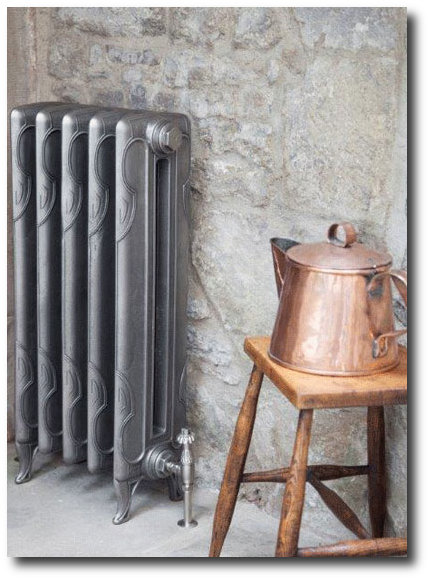 A Traditional Art Nouveau styled cast iron radiator