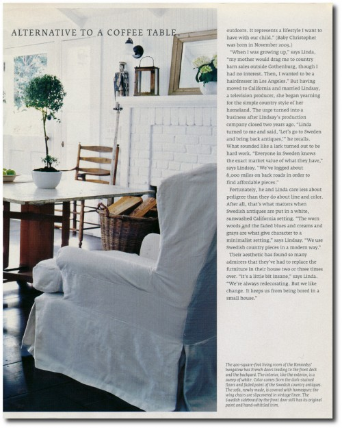 Linda And Lindsay Kennedy California Bungalow Decorated In The Swedish Style Page 7