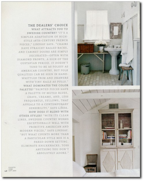 Linda And Lindsay Kennedy California Bungalow Decorated In The Swedish Style Page 8