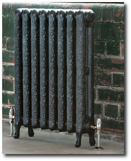 The Art Nouveau is an exquisite cast iron radiator that demonstrates elegance, echoing a bygone era.