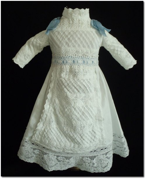 Antique French Original Cotton Muslin BEBE Dress for JUMEAU STEINER Doll
