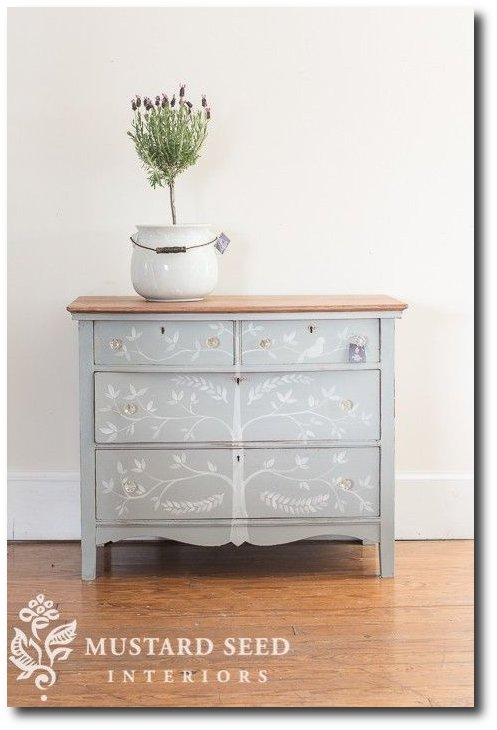 Dresser With A Tree- Miss Mustard Seed