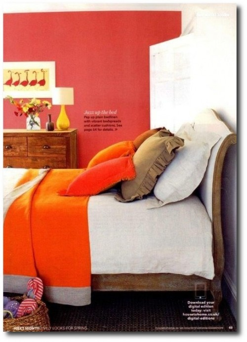 Featured here is their saffron throw in Country Homes & Interiors Magazine- from Volga Linen