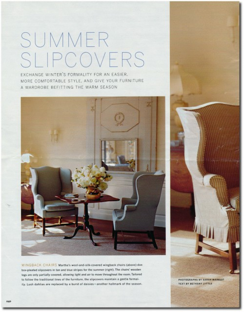Making Summer Slipcovers For Your Upholstered Furniture- Martha Stewart's Furniture 1