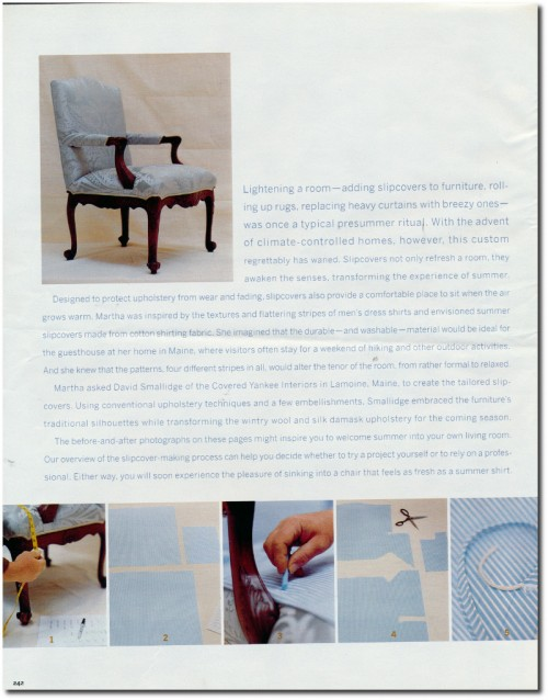 Making Summer Slipcovers For Your Upholstered Furniture- Martha Stewart's Furniture 3