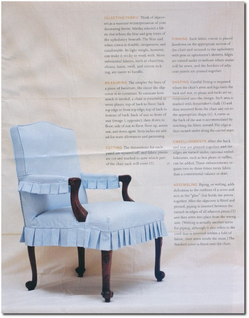 Making Summer Slipcovers For Your Upholstered Furniture- Martha Stewart's Furniture 4