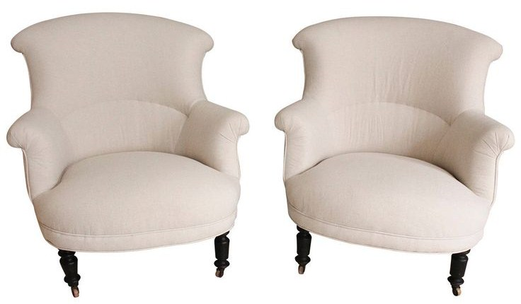Pair of 19th Century French, Napoleon III Armchairs