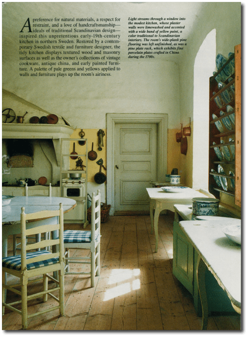 Swedish Interior Country Living Feb 1995 Photography By Barbara And Rene Stoeltie 2