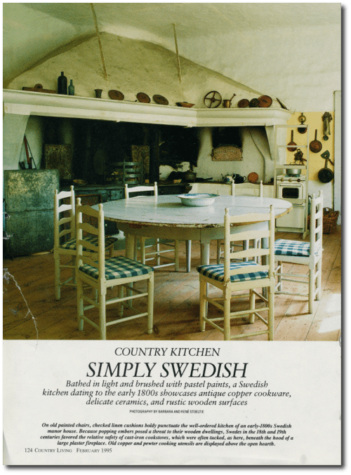 Swedish Interior Country Living Feb 1995 Photography By Barbara And Rene Stoeltie