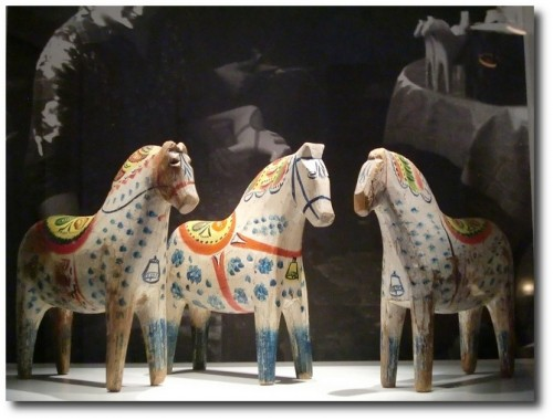 The exhibition of Dala horses in Dalarnas Museum in Falun by Feltangel on Flickr