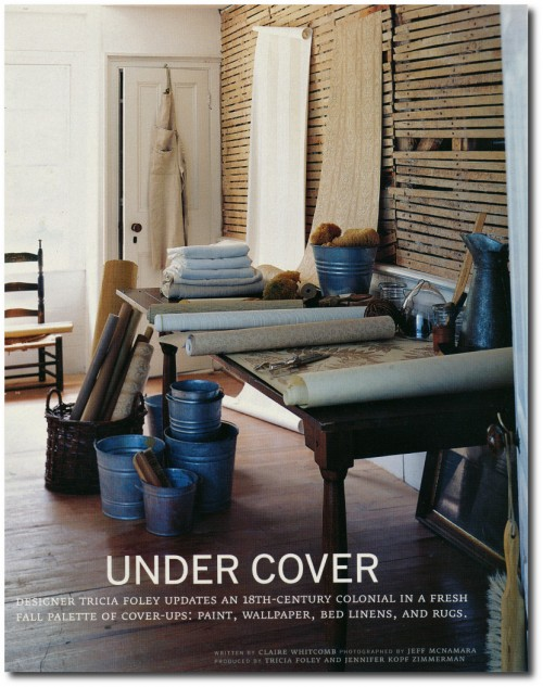 Tricia Foley's Home Photographed By Jeff McNamara Country Home September 2004 issue.