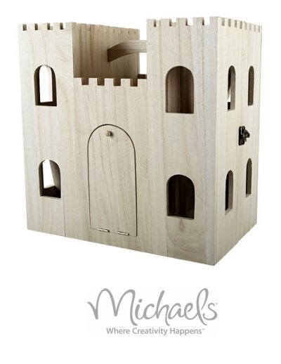 artminds™ wood castle dollhouse Michaels