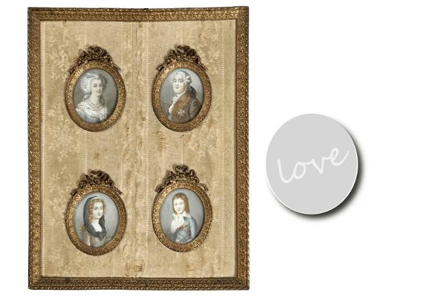 Swedish 18th Century Style  Miniature Portraits Of Louis XVI, Marie  Antoinette, Louis XVII