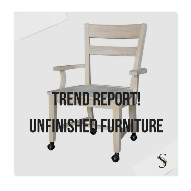 Trend Report Decorating With Unfinished Furniture