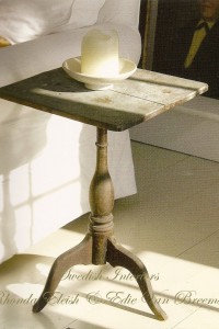Swedish Furniture & Decor – Martina Arfwidson and  David Weiss's Swedish Painted tilt top candle stand