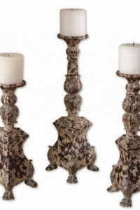 Uttermost 19304 Salerno Candleholders in Aged Ivory – 19304,