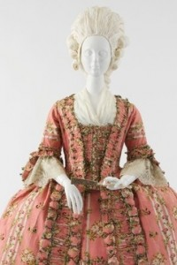 Another lovely pink dress from the 18th century. This one is French and dates to around 1775.