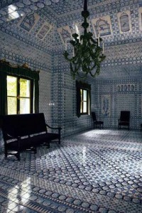 Chateau de Groussay in France The interior is completely clad in Delft tiles- Picture Credit  Habitually Chic