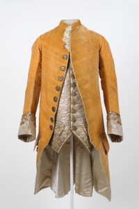 Mens velvet jacket made in France circa 1765.