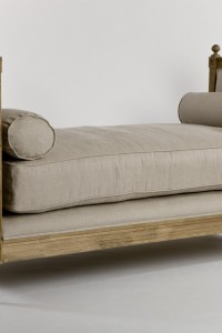 """GORGEOUS ROMANTIC FRENCH STYLE BIANCA LINEN GREY OAK DAY BED,BENCH,71""""WIDE"""