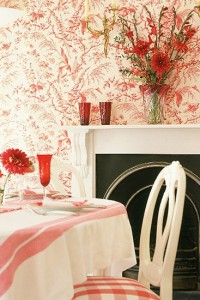 House To Home Features This Lavish Swedish Gustavian Red Dining Room -House To Home.co.uk