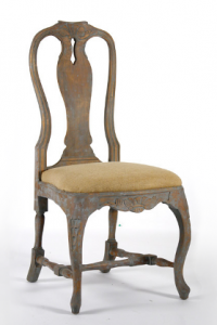 IRCH WOOD ACCENT DINING CHAIR