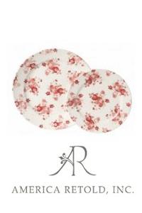 Red Chintz Plates