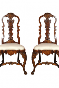 18th Century Pair of Dutch Side Chairs East and Orient Company
