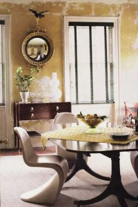 Stunning Faux Plaster Finish in Yellow – Originally From Design Within Reach Blog