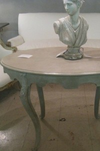 Painted Antique Furniture Using Pastel Greens – Picture Credited to Cote De Texas