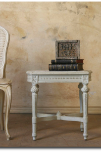 Plaster Wall Finishes & Ideas- Louis XVI Style Square Table with Marble Top Bella Cottage