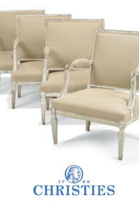 A Set of Four French White Painted Fauteuils Of Neo-Classical Style Mid -19TH Century and Later- Christies